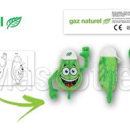 Fabrication Peluche Sur Mesure feuille GAZ NATUREL (peluche objet sur mesure).