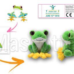 Fabrication Peluche Sur Mesure grenouille CLUB ALPES PYRÉNÉES (peluche animal sur mesure).