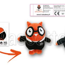 Custom Made Plush Toy owl IT AKADEMY (custom made animal plush toy).