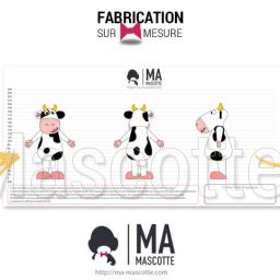 Fabrication Mascotte Sur Mesure vache TIP TOP (mascotte animal sur mesure).