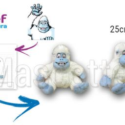 Custom Made Plush Toy yeti MÉTABIEF (custom made animal plush toy).