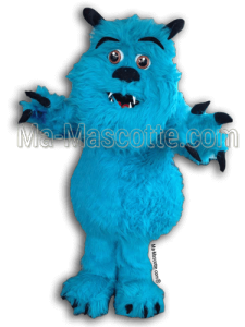 Fabrication Mascotte Sur Mesure monstre bleu (mascotte animal sur mesure).