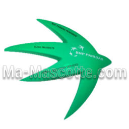 Bank logo Custom Stress Foam Manufacturing. Cutomized stress foam shape.