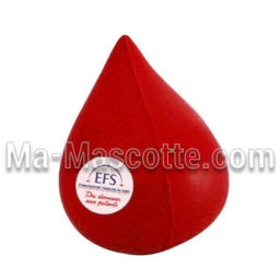 Blood Drop Custom Stress Foam Manufacturing. Cutomized stress foam shape.