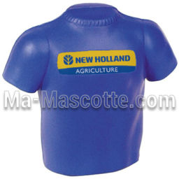 Fabrication figurine antistress sur mesure t-shirt. Antistress mousse personnalisé.