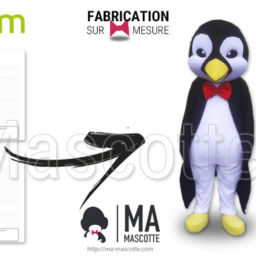 Custom Made Mascot Costume penguin industrium. Advertising Mascot Suit