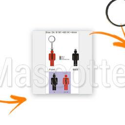 Fabrication Porte Clés Sur Mesure PVC Personnage Obu.