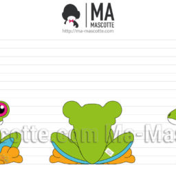 3D Design Custom Plush Frog. Graphic Design Plush toy
