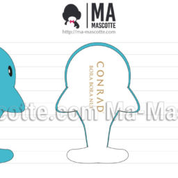 3D Design Custom Plush Whale. Graphic Design Plush toy