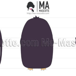 3D Design Custom Plush Penguin. Graphic Design Plush toy