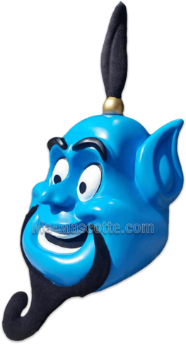 genius alladin head resin mascot costume