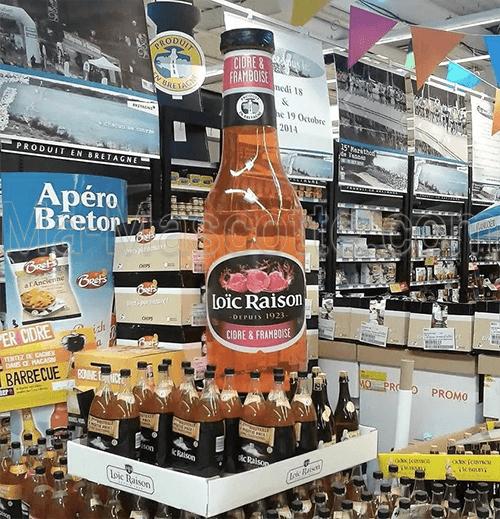 PLV bouteille gonflable sur mesure