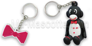 Manufacturer custom keychain in flexible plastic Ma Mascotte
